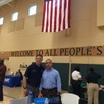 County Commissioner Kevin Beckner and Safe and Sound Hillsborough Coordinator Freddy Barton at Community Engagement Day on August 29, 2015