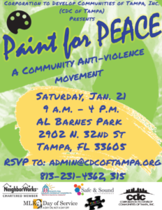 CDC of Tampa Paint for Peace 01.21.17