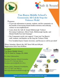 Van Buren Middle School's Community All Call & Stop the Violence Walk