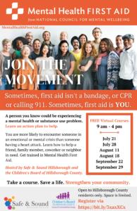 Adult Mental Health First Aid Training (Virtual)