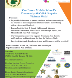 Van Buren Middle School's Community All Call & Stop the Violence Walk